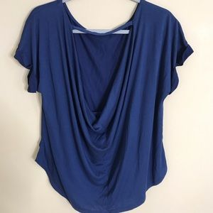 miami Plunging Scoop Back Blouse Size L